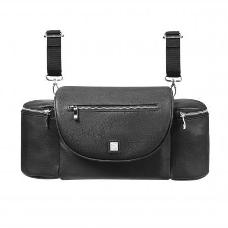TD18-1323 Pram Bag leather look - Black (9)